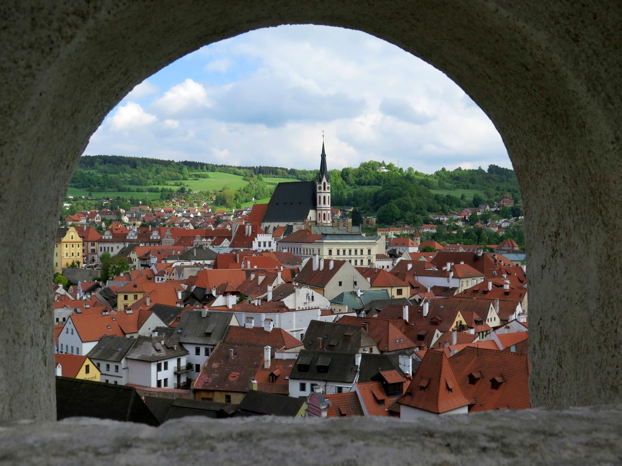 cover historic center of cesky krumlov