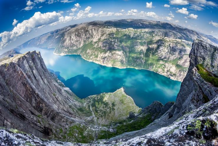 کاور لیسهفیورد (lysefjorden)، نروژ