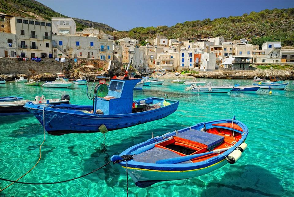 levanzo island sicily italy