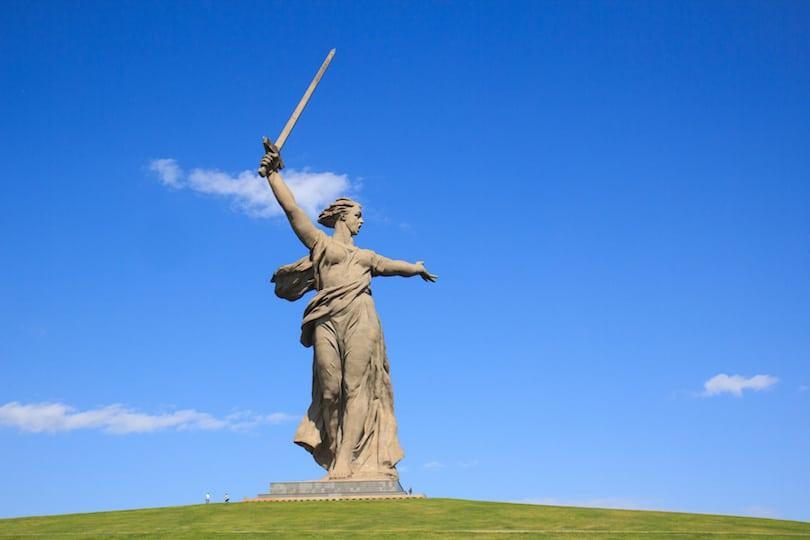 volgograd monument motherland calls, russia