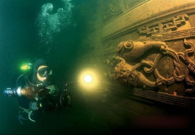 underwater ruins shicheng ancient city china 6